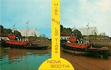 Fundy Nova Scotia Canada Ca high and low tides Postcard