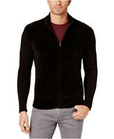 Alfani Men's Chenille Full-Zip Cardigan Sweater Black Ebony Grey Size M L XL New
