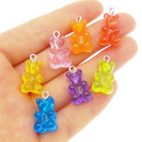 17x11mm Resin Bear Craft Pendant Charms 10-pack DIY Jewellery Making Findings