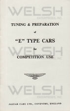 Vintage Jaguar E-Type Competition Use Tuning & Preparation Guide - FREE SHIPPING