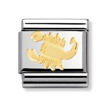 BRAND NEW GENUINE NOMINATION CLASSIC 18ct GOLD SCORPIO ZODIAC ITALIAN CHARM