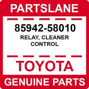 85942-58010 Toyota OEM Genuine RELAY, CLEANER CONTROL