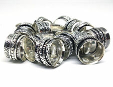 10 PCs Lot Spinner .925 Silver Plated Spinning Rings Meditation Challa Jewelry