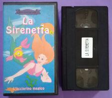 VHS FILM Ita Animazione LA SIRENETTA Acciarino Magico raccontafiabe no dvd(V110)