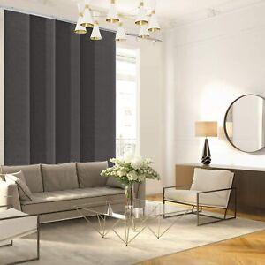 CHICOLOGY Vertical Window Panels , Room Divider , Ballroom Grey, Light Filtering
