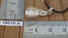 Pendentif MINI CAGE ETIRABLE pour placer 1 pierre + bélière + cordon reglable