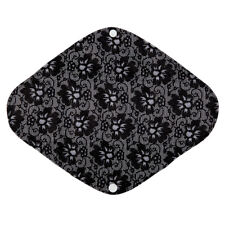 Cloth Menstrual Pad Sanitary Mama Cloth Large Heavy Flow Bamboo Charcoal 12in L