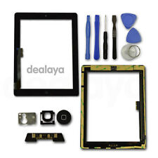 FOR IPAD 3/4 BLACK REPLACEMENT LCD SCREEN TOUCH DIGITIZER FRONT GLASS HomeButton
