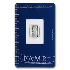 1 gram Pamp Suisse Platinum Bar In Assay - SKU #67344