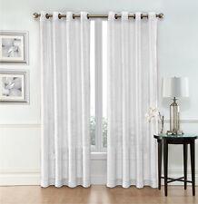 Whittier Metallic Sparkle Semi Sheer Grommet Curtain Panels - Assorted Colors