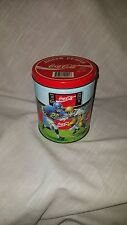 Vintage Collectible Coca Cola Coke Brand  Puzzle in a Tin w/ Multi Sports Images