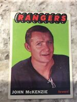 1965-66 TOPPS HOCKEY SET BREAK CARD#94 JOHN McKENZIE (NEW YORK RANGERS) R218
