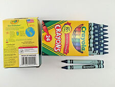 48 Crayola Crayons **  BLUE GREEN **  Bulk Lot 2 Boxes, 24 Pc. per box