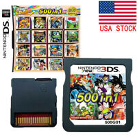 500 in 1 Games Card CartridgeFor Nintendo Multicart  DS NDS NDSL NDSi 3DS 2DS XL