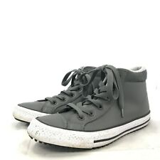 All Star Converse Shoes UK 4 EU 37 Trainers Hi Tops Grey Casual Lace Up 182416