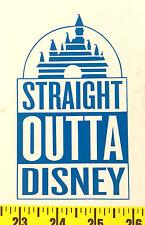 Straight Outta Disney Castle Vinyl Sticker Car Window Laptop Decal Princess