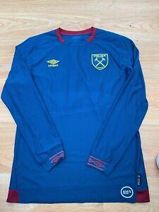 Medium Mens West Ham United Long Sleeved Football Shirt by Umbro U15'S / 99p