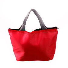Waterproof Portable Picnic Insulated Food Storage Box Tote Lunch Bag RED