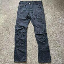 G-STAR RAW Mens Skiff 3D Tapered Denim Gray Black Jeans Size 33x32