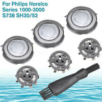 For Philips Norelco Series 1000-3000 S738 SH30/52 4Pcs Shaver Head Brush