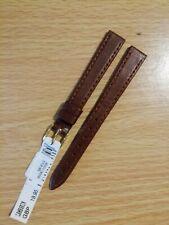 Ladies MORELLATO 12mm Italian Brown Lambskin Watch Strap, 10mm G/P Buckle