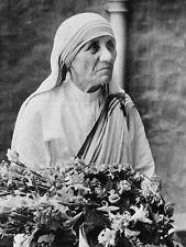 PHOTOGRAPH PORTRAIT CATHOLIC NUN MOTHER TERESA CALCUTTA POSTER PRINT LV11038