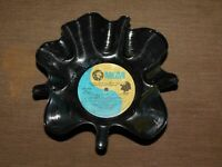 """VINTAGE KITCHEN  1974 9"""" ACROSS DISH BOWL MADE FROM OLD MGM MUSIC RECORD"""