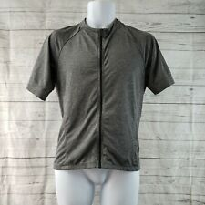 Bontrager Mens Cycling Jersey Sz Large Fitted Gray Short Sleeve Full Zip