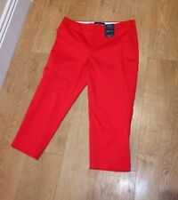 Marks and Spencer Mid Capri, Cropped Cotton Blend Women's Trousers