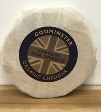 Godminster Certified Organic Vintage Oak Smoked Cheddar Cheese 1kg Christmas