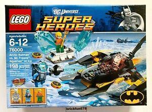 Lego Super Heroes 76000 Arctic Batman vs. Mr. Freeze Aquaman New in Sealed Box