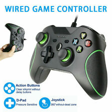 Black Controller For Microsoft Xbox One Win 7/8/10 USB Wired Gamepad Joypad New