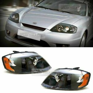 New Genuine OEM Head Light Lamp (RH & LH) set For Hyundai Tiburon Coupe 05 - 06