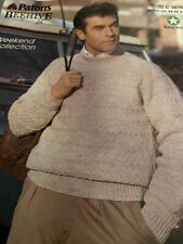 PATONS Mens Sweater / Jumper  Easy Knit 2 C4878
