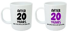 After 20 Years Him & Her Mugs, 20th Wedding Anniversary Gifts for husband & wife