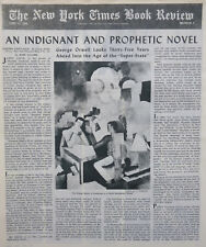 1984 GEORGE ORWELL SUPER STATE SCHORER FRESNAYE 1949 June 12 Times Book Review