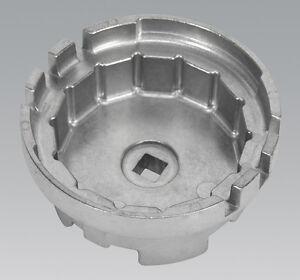 Sealey VS7112 Aceite Filtro Tapa Llave Ø64.5mm X 14 Canales para Lexus/Toyota