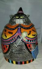 Adorable Fitz And Floyd Kitty Witches Cookie Jar Big Cat Black Cat Halloween