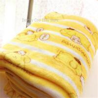 Gift  Pom Pom Purin Soft Warm Flannel Blanket Throw Plush Rug Girl Bedding Cute
