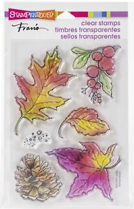 Stampendous Perfectly Clear Stamps-Autumn Leaves