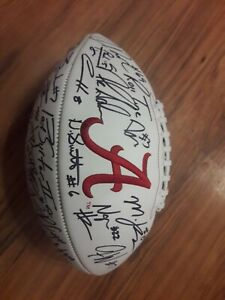 Alabama Crimson Tide Nick Saban Mac Jones Devonta Smith Autographed Football