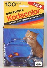 KODAK KODACOLOR CAT WITH 2 GOLD FISH MINI PUZZEL 7X7 INCHES