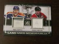 2014-15 In The Game Used - Dual Jersey - Paul Coffey - Chris Chelios 16/45