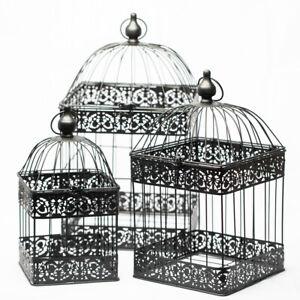 Richland Bodie Bird Cage - Black Set of 3 Wedding Vintage Inspired Decor Home