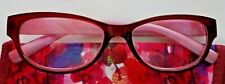 New! Foster Grant Simply Specs Hollee Magenta 1.25 Reading Glasses W/Soft Case!