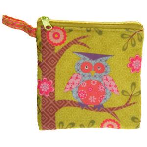 10 x Woodland Animal Owl Fabric Zip Coin Purses Girls Accessories Job Lot Trade