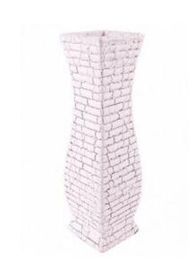 Greek Vase Mosiac Crackle brick textured Design Ceramic 30cm Grecian Sparta Vase