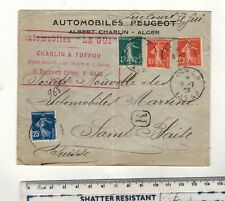 ALGIERIA -SWITZERLAND ,1909. LE GUI AUTOMOBILES/PEUGOET AGENTS ALGIERS!