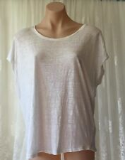JAG SIZE M/12 SHIMMERING WHITE LINEN TOP