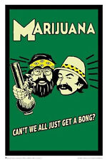 CHEECH AND CHONG - MARIJUANA POSTER - 24x36 POT WEED BONG 3191